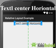 center horizontal in Android Relative Layout