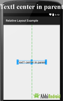 center in parent Android Relative Layout