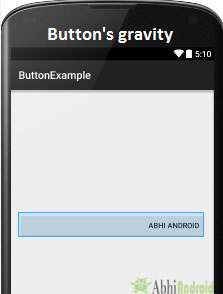 Button Gravity in Android
