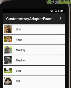Custom ArrayAdapter Example in Listview