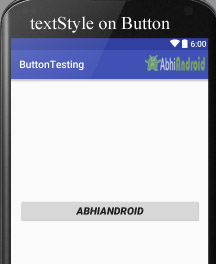 Set textStyle on Button in Android