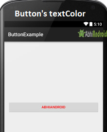 Setting Text Color on Button in Android