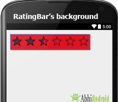 BackGround in RatingBar