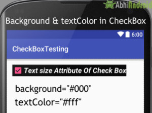 Background and TextColor in CheckBox