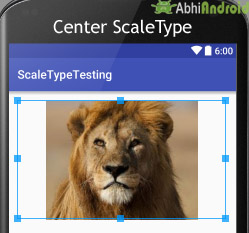 Center ScaleType in ImageView Example