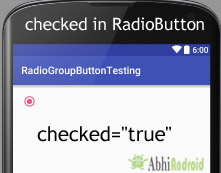 Checked Attribute in RadioButton Android