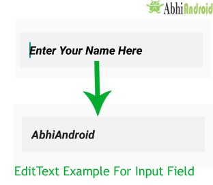 EditText Input Field Example in Android
