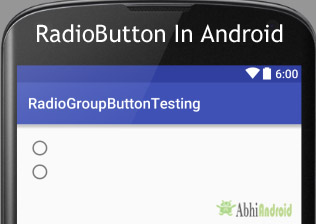RadioButton & RadioGroup Tutorial With Example In Android Studio