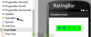 RatingBar in Android