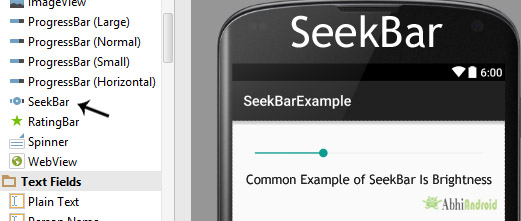 SeekBar Tutorial With Example In Android Studio