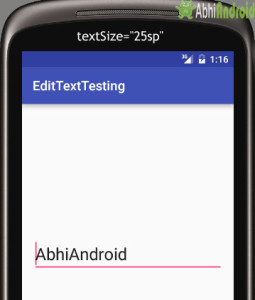 Setting textSize in EditText Android