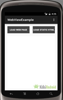 WebView Example in Android Studio