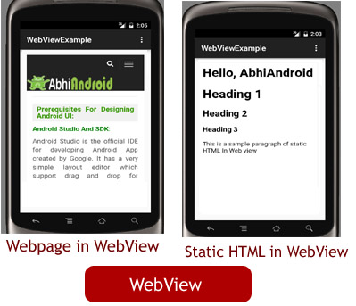 WebView Tutorial With Example In Android Studio