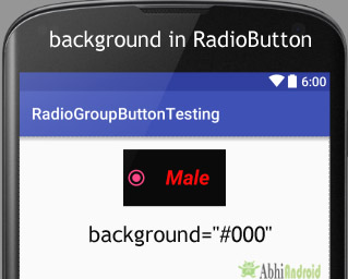 background in RadioButton