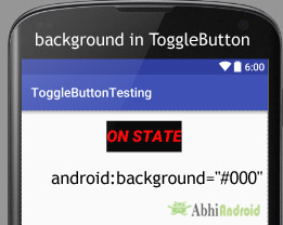 background in ToggleButton Android
