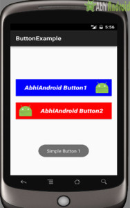 button example output android