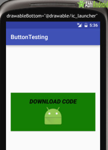 drawableBottom in Button in Android