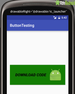drawableRight of Text on Button in Android