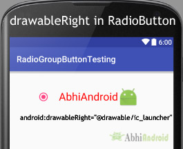 drawableRight of Text on RadioButton Android