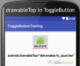 drawableTop in ToggleButton Android