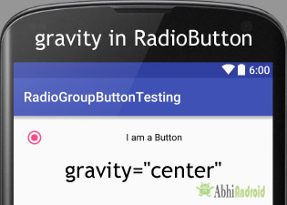 gravity in RadioButton Android