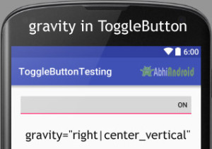 gravity in ToggleButton