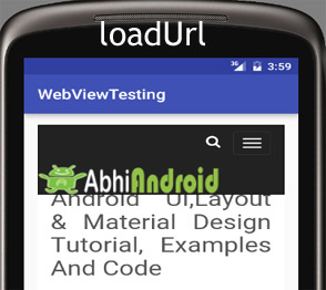 loadUrl in Webview Android