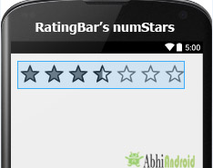 numStars in RatingBar Android