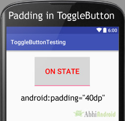 padding in ToggleButton