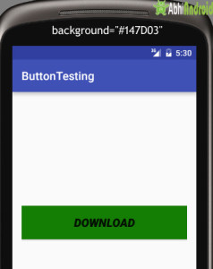 setting background in Button Android