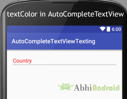 textColor in AutoCompleteTextView Android