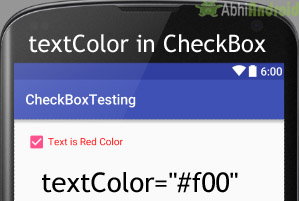textColor in Checkbox Android