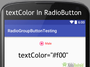 textColor in RadioButton