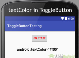 textColor in ToggleButton Android