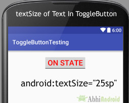 textSize in ToggleButton Text Android