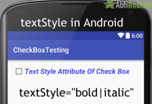 textStyle in CheckBox Android