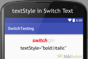 textStyle in Switch Android