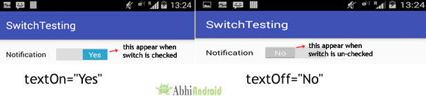 texton textoff in Switch Android
