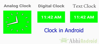 Analog Clock, Digital Clock And Text Clock Android
