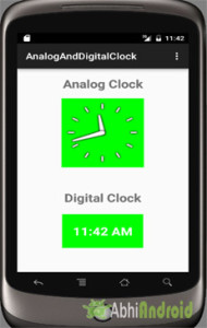 Analog Clock and Digital Clock Output