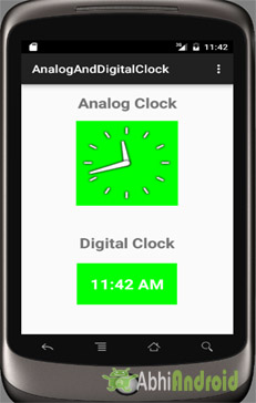 Analog Clock and Digital Clock Example in Android Studio