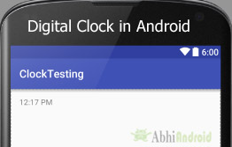 Digital Clock in Android