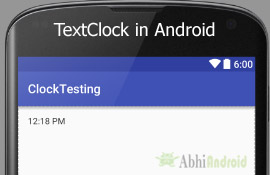 TextClock in Android