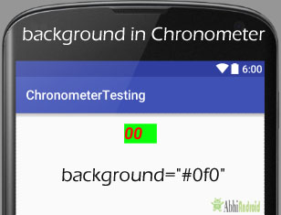 background in Chronometer Android