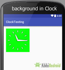 background in analogclock digitalclock textclock