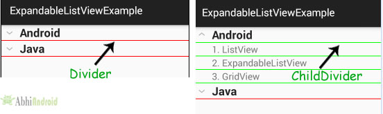 childDivider in ExpandableListView Android
