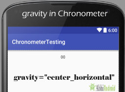 gravity in Chronometer Android