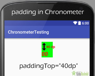 padding in Chronometer Android