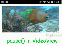 pause in Video Video Android