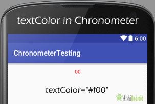 textColor in Chronometer Android